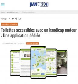 Blogpost on accessaloo app by Handirect