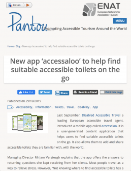 Blogpost about accessaloo by Pantou.org