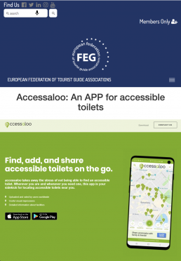 Blogpost about accessaloo by Federation of Tourist Guides Associations FEG